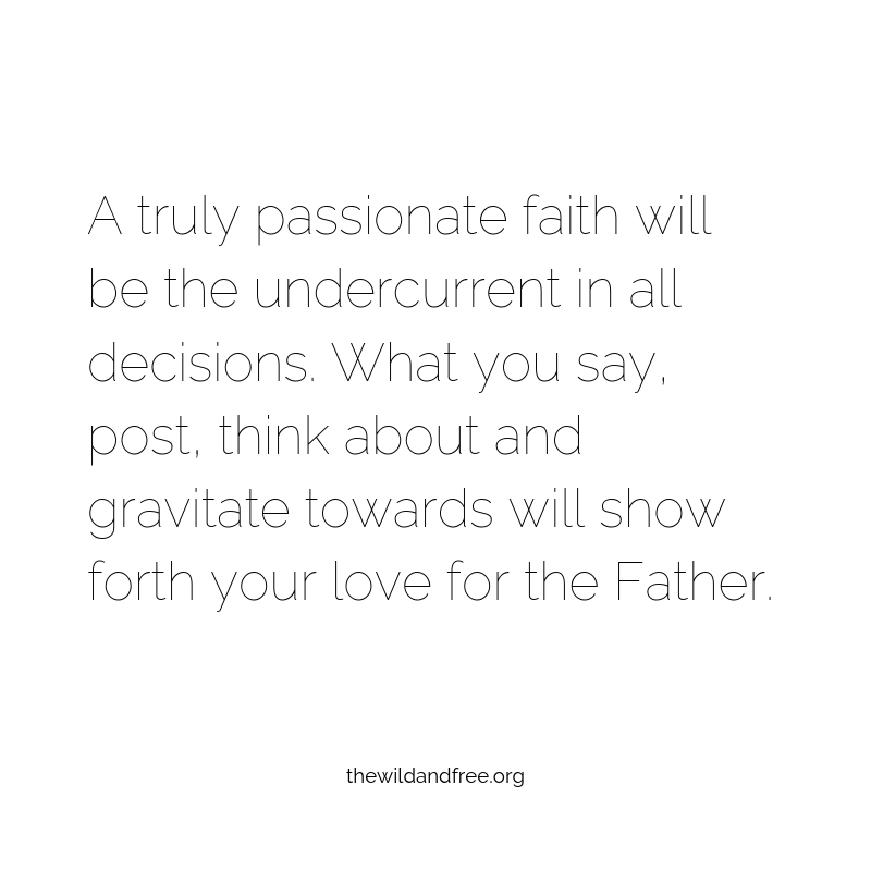 A truly passionate faith