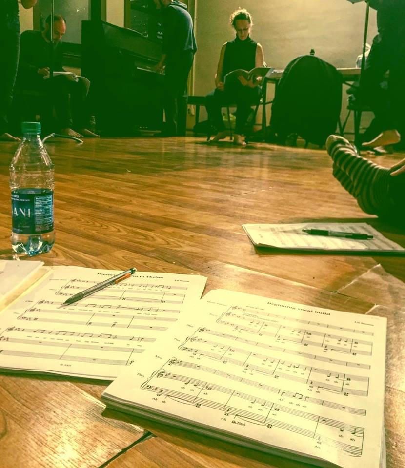 The Bacchae Rehearsal