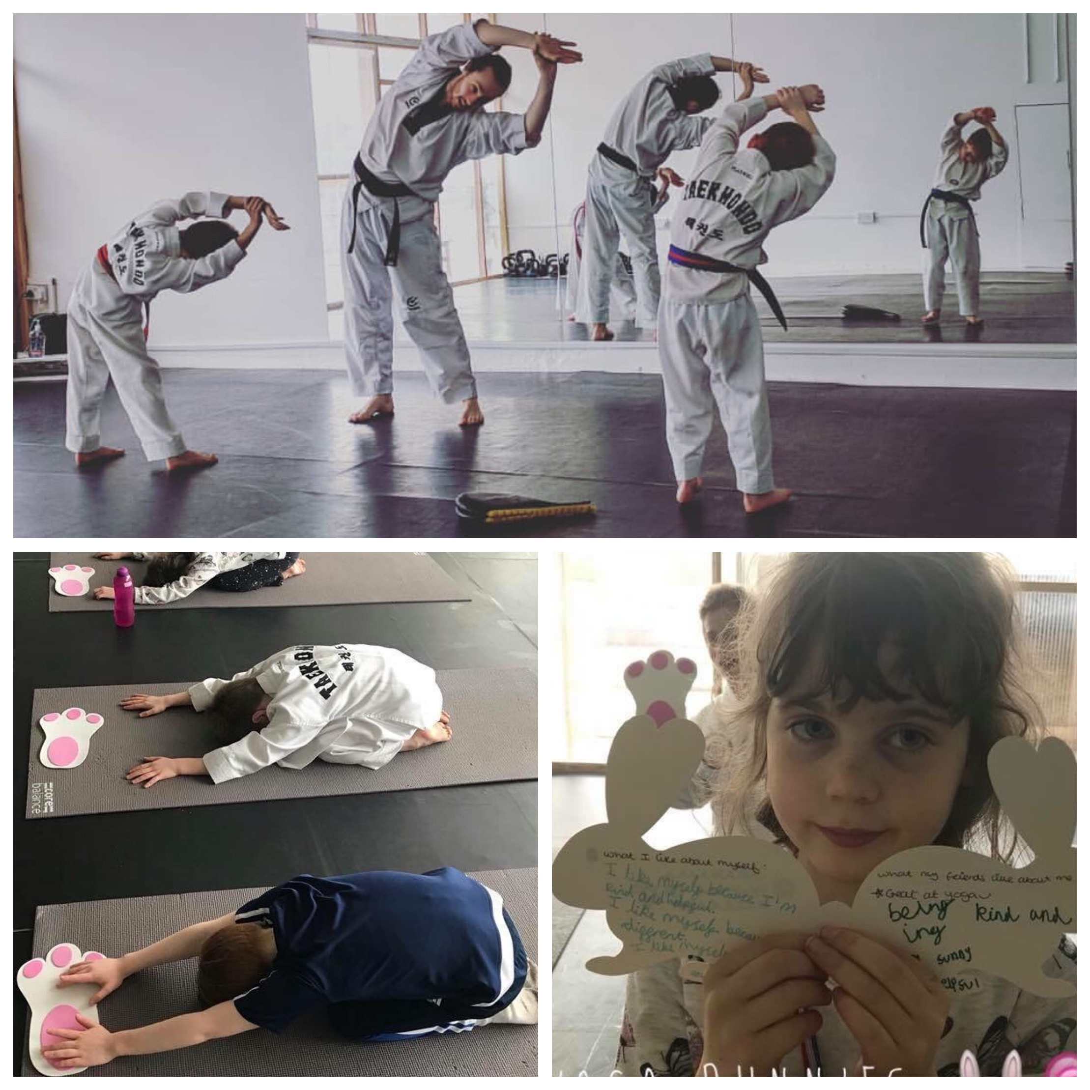 Easter Holidays 2018: Taekwondo and Yoga - In the Easter Holidays we welcomed Titan Taekwondo Academy and Yoga Bunny's Yoga for kids into our studio! As well as burning off lots of Easter Egg fuelled energy, the kids also learnt Taekwondo techniques and why discipline is important, and Yoga stretches and poses and techniques to cope with anxiety and stress.