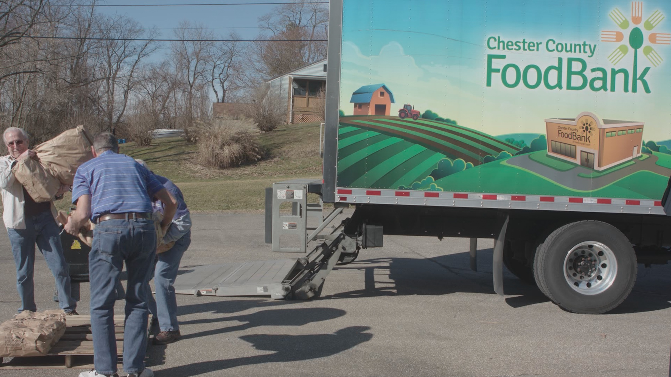 chester county food bank truck at cupbord