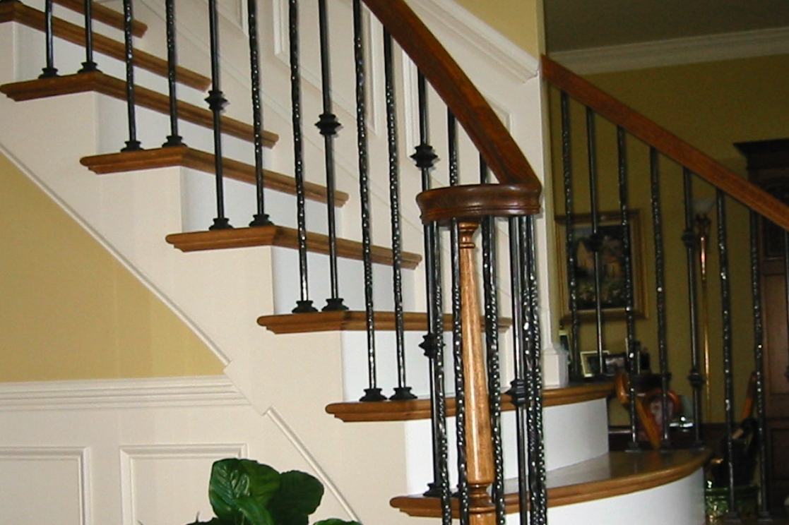 Custom Interior Rail with Hand-Twisted Pickets