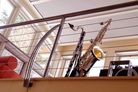 Recording Studio Loft Rails  & Ladder. Brushed Finish Topped with Clear Coat