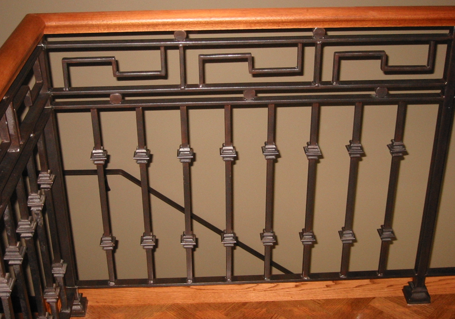 Greek Motif Interior Balcony Rail