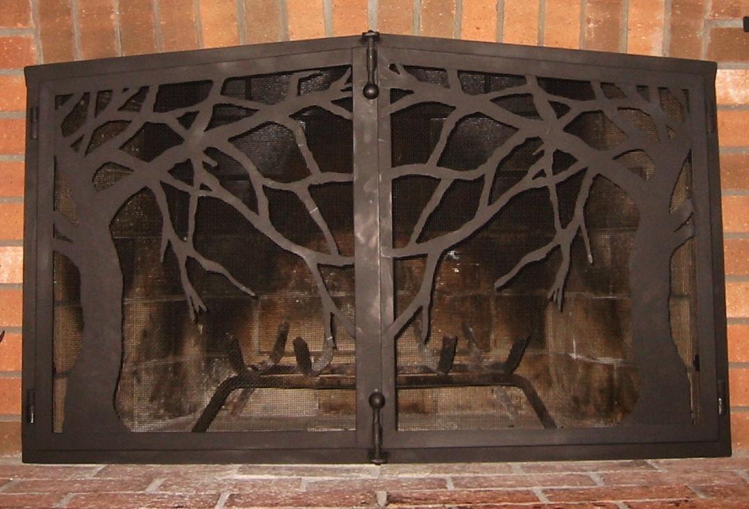 Tree Motif Attached Firescreen