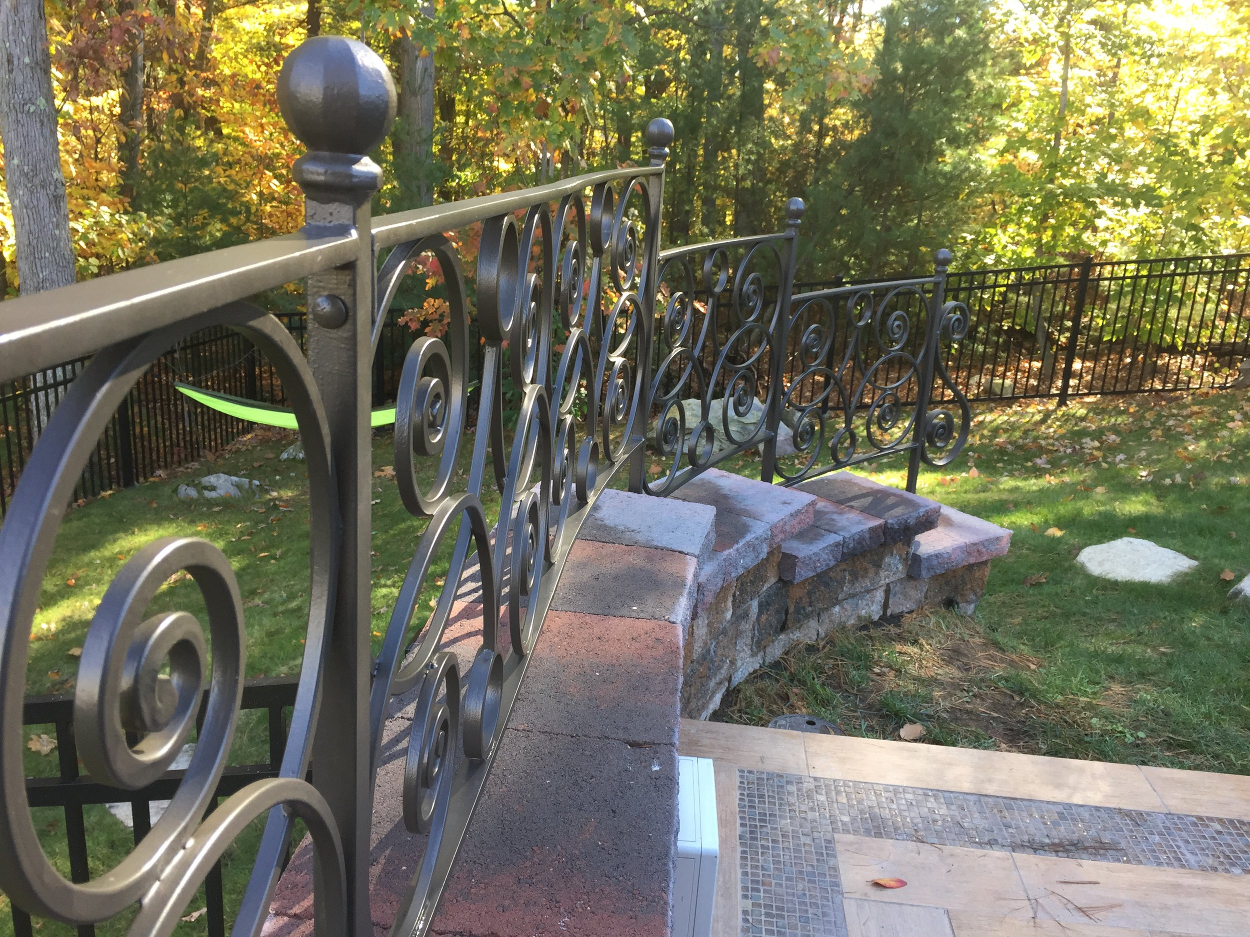 Hand-forged Retaining Wall Fencing