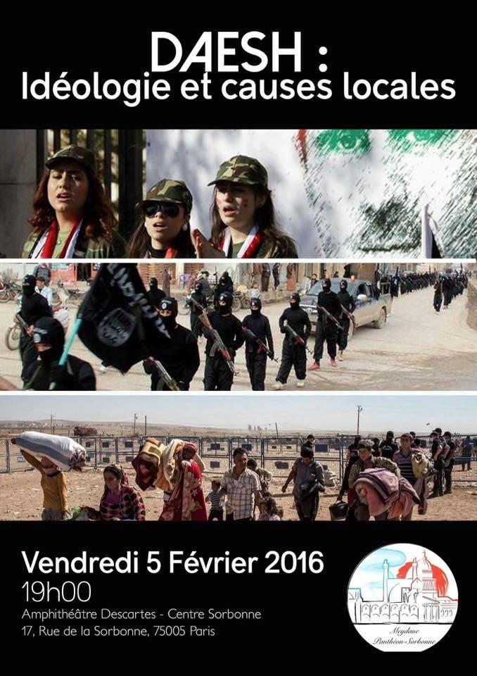 5 février 2016 Organisée par Meydane Panthéon-Sorbonne