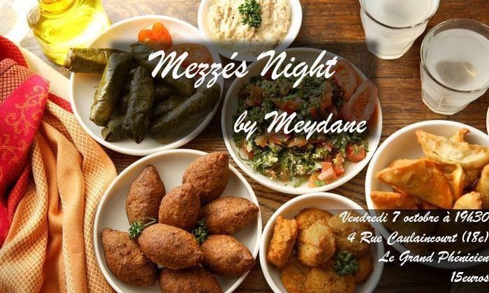 Mézzé Night, découverte de la cuisine libanaise, organisé par Meydane SciencesPo le 7 octobre 2016.