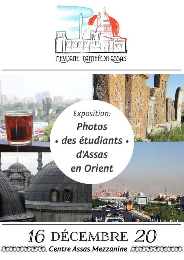 """Expositio """" Photos des étudiants d'Assas en Orient"""" les 16-20 décembre 2013."""