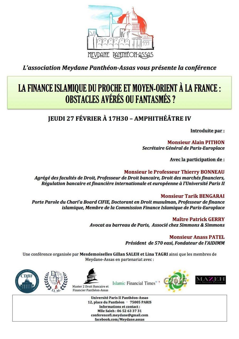 Organisée par Meydane Panthéon-Assas, le 27 avril 2014.