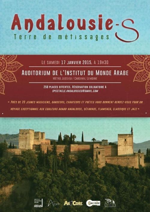 """Festival culturel """"Andalousie, terre de métissages""""organisé avec Art'Core, le 17 janvier 2015."""