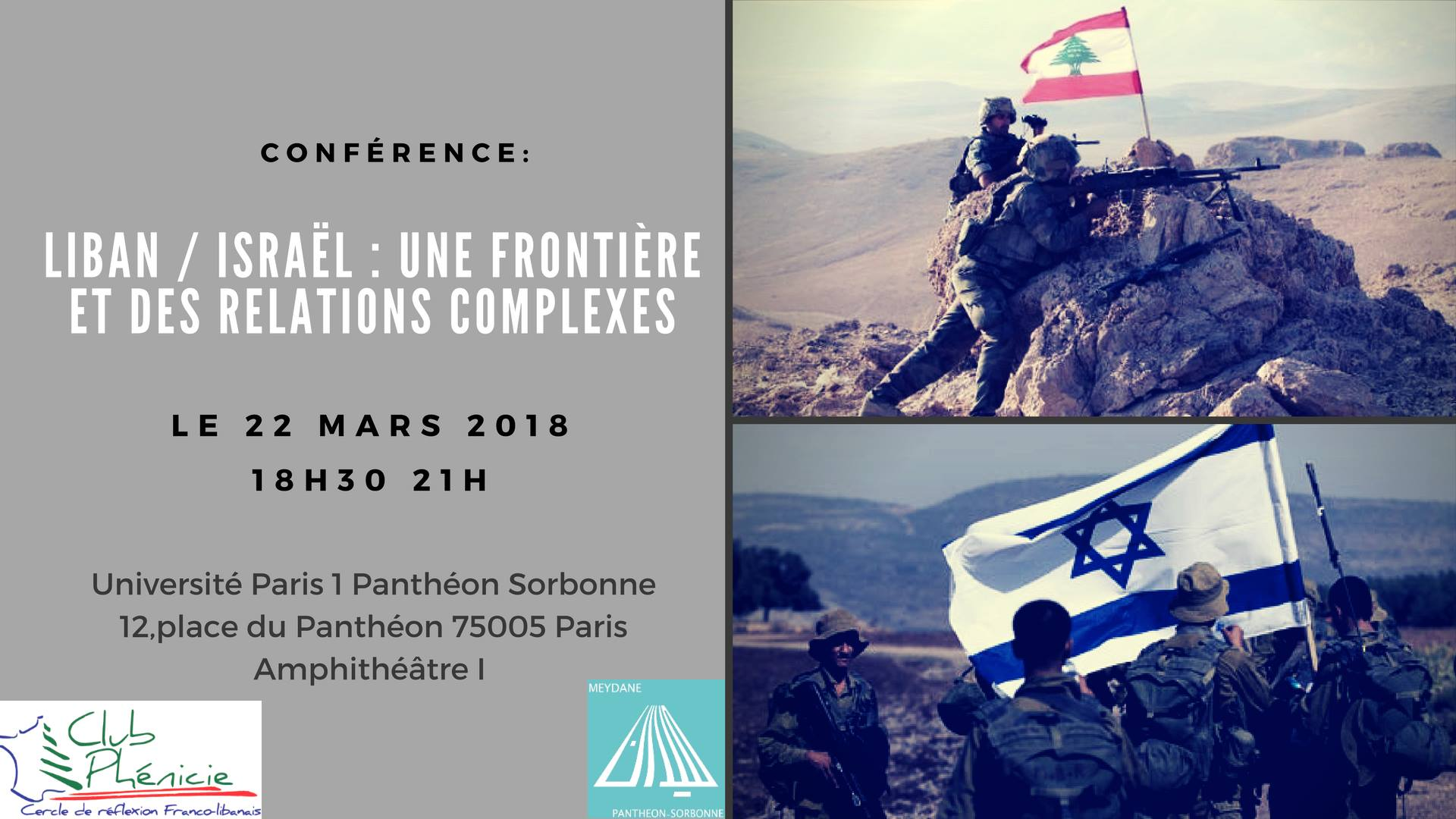 Le 22 mars 2018    Organisée par Meydane Panthéon-Sorbonne