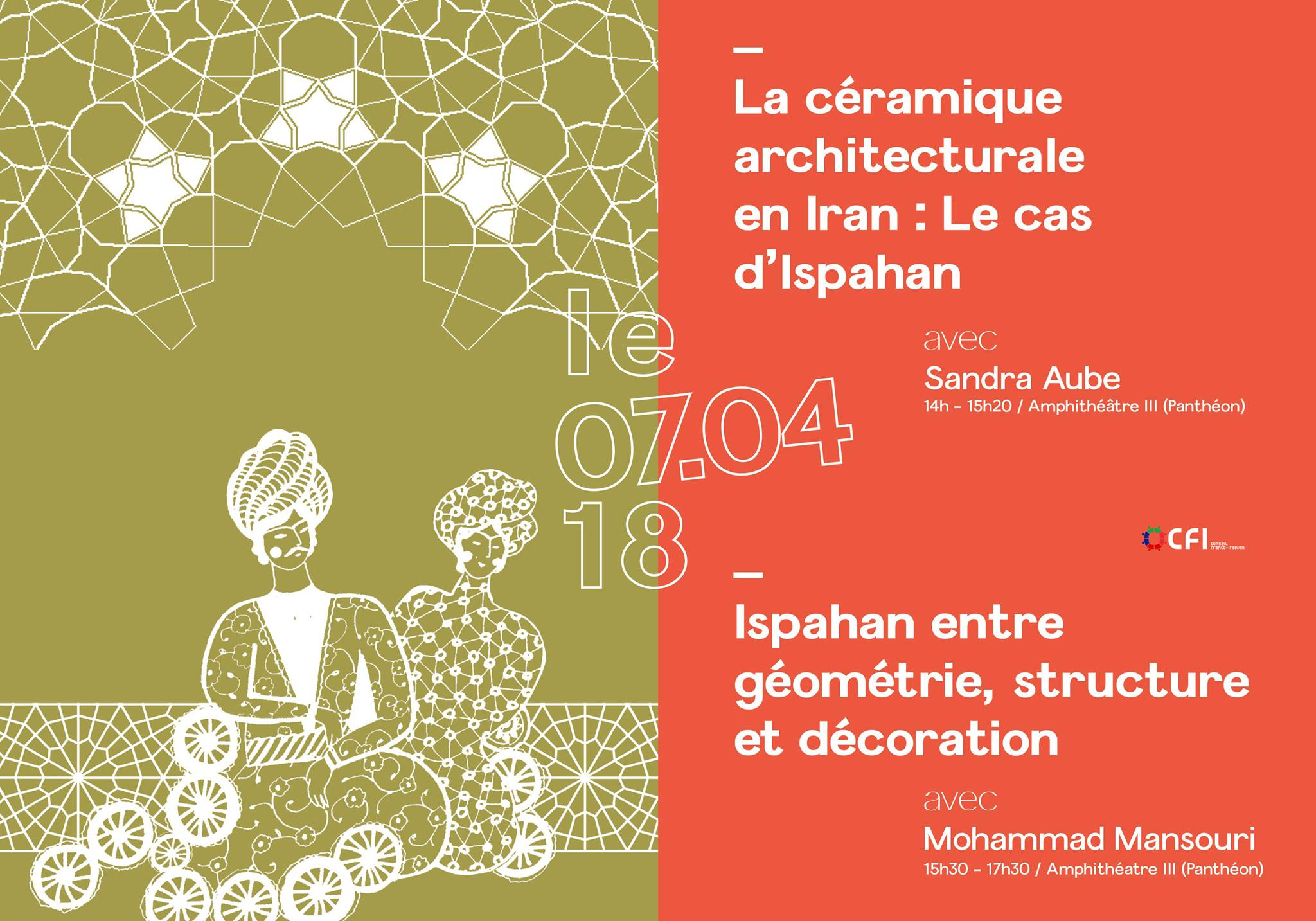 Le 7 avril 2018    Organisée par Meydane Panthéon-Sorbonne