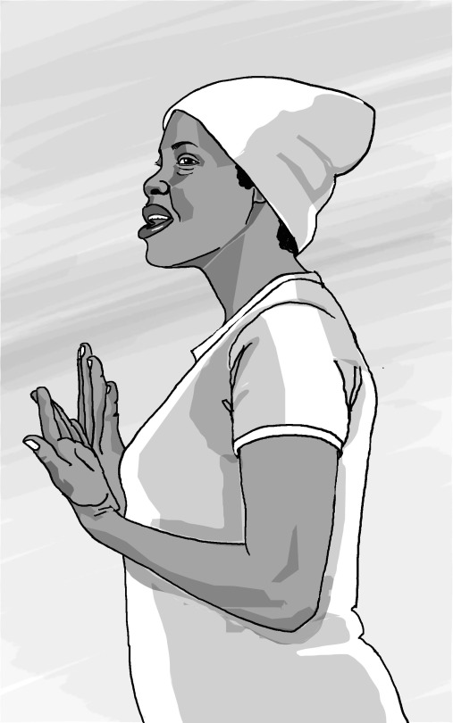 This illustration was created for an education project in Eastern Africa linking home-based workers and small producers and workers coops with access to Fair Trade markets. The series of training manuals was published by WIEGO (Women in Informal Employment Globalizing and Organizing). (2/7)