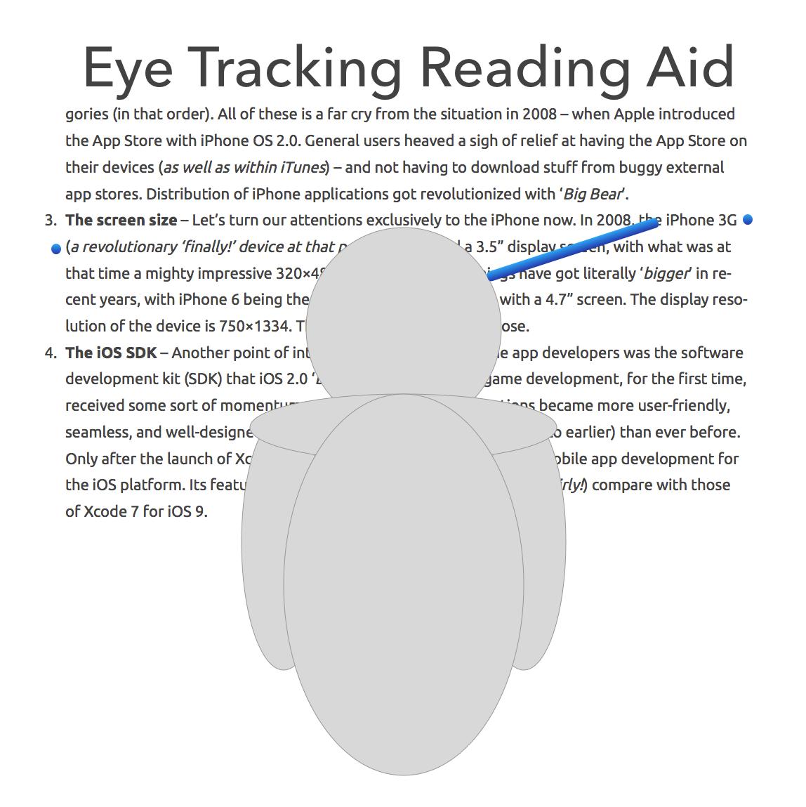 VR Reading Aid using Eyetracking
