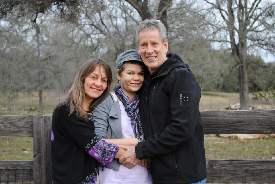 Mary with Phoebe and her husband, Mike.