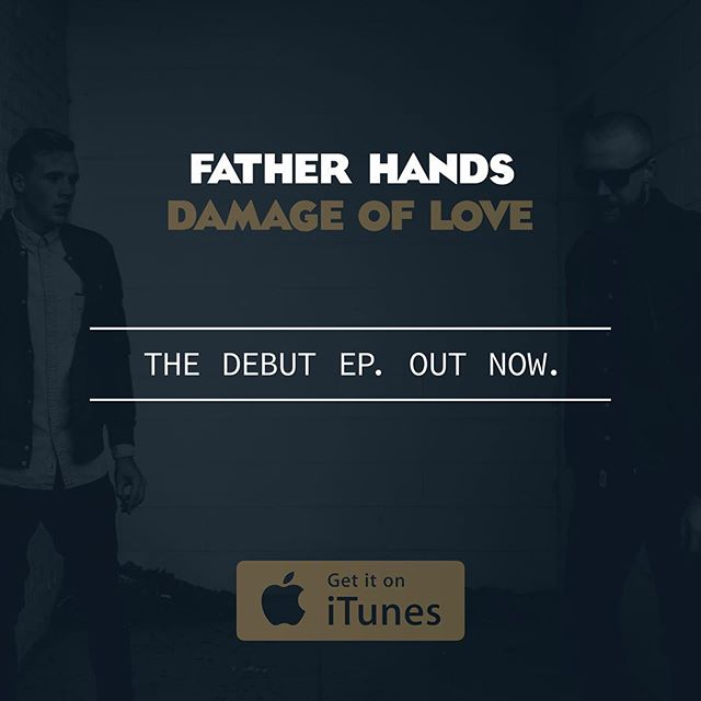 All of the ear candy. None of the ear cavity.  #fatherhands #damageoflove #debut #outnow #newmusic #earcandy #jamz #alternative #itunes #newmusictuesday #belieber #1d #3d #rock #slowjams #hashtag