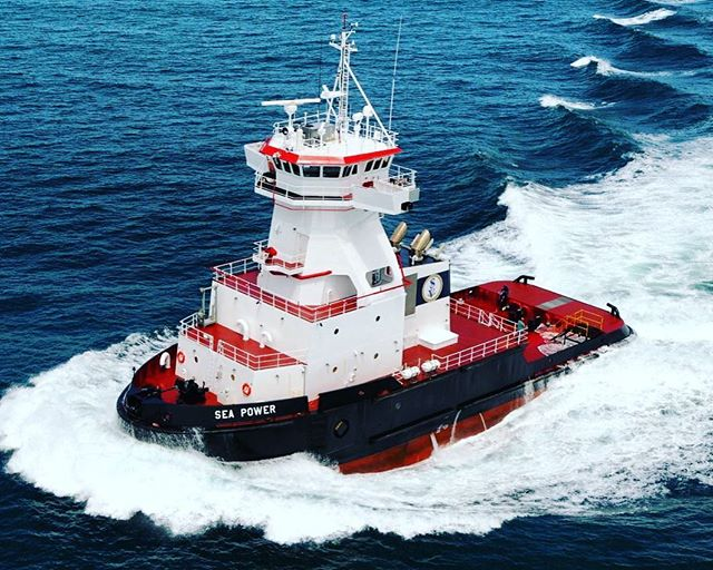 M/V SEA POWER performing stellar in sea trials! Designed by GPA and built by Bae Systems Jacksonville Ship Yard for SEACOR, the ATB Tug is nearly ready for delivery! @baesystems #baesystems #seacor #shipdesign #navalarchitecture #tug #tubboat #tuglife #marineengineer #marineengineering