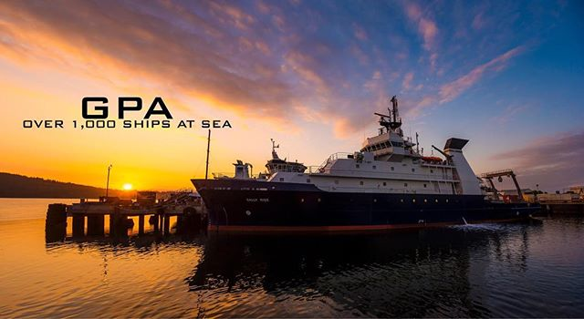 Gorgeous shot of sunset over R/V Sally Ride. Photo by Erik Jepsen of UC San Diego Publications. #ships #boat #rvsallyride #rvneilarmstrong #research #researchvessel #naval #navarchitecture #marineengineer #ship