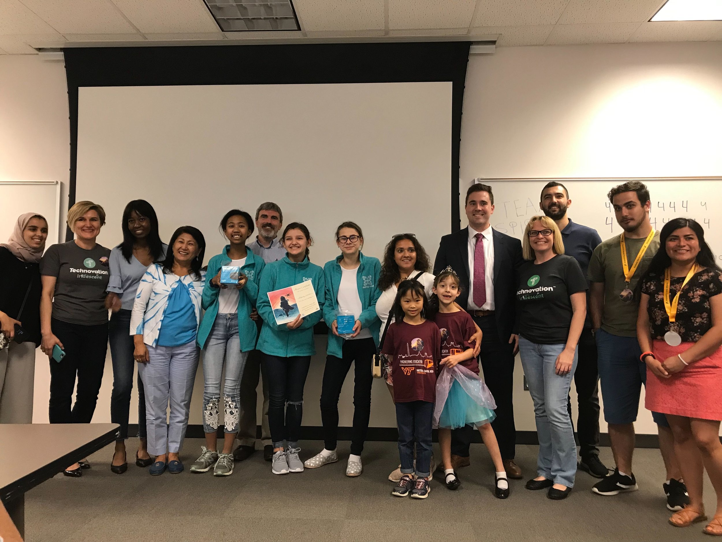 Technovation competitors and Coder Kids leaders.
