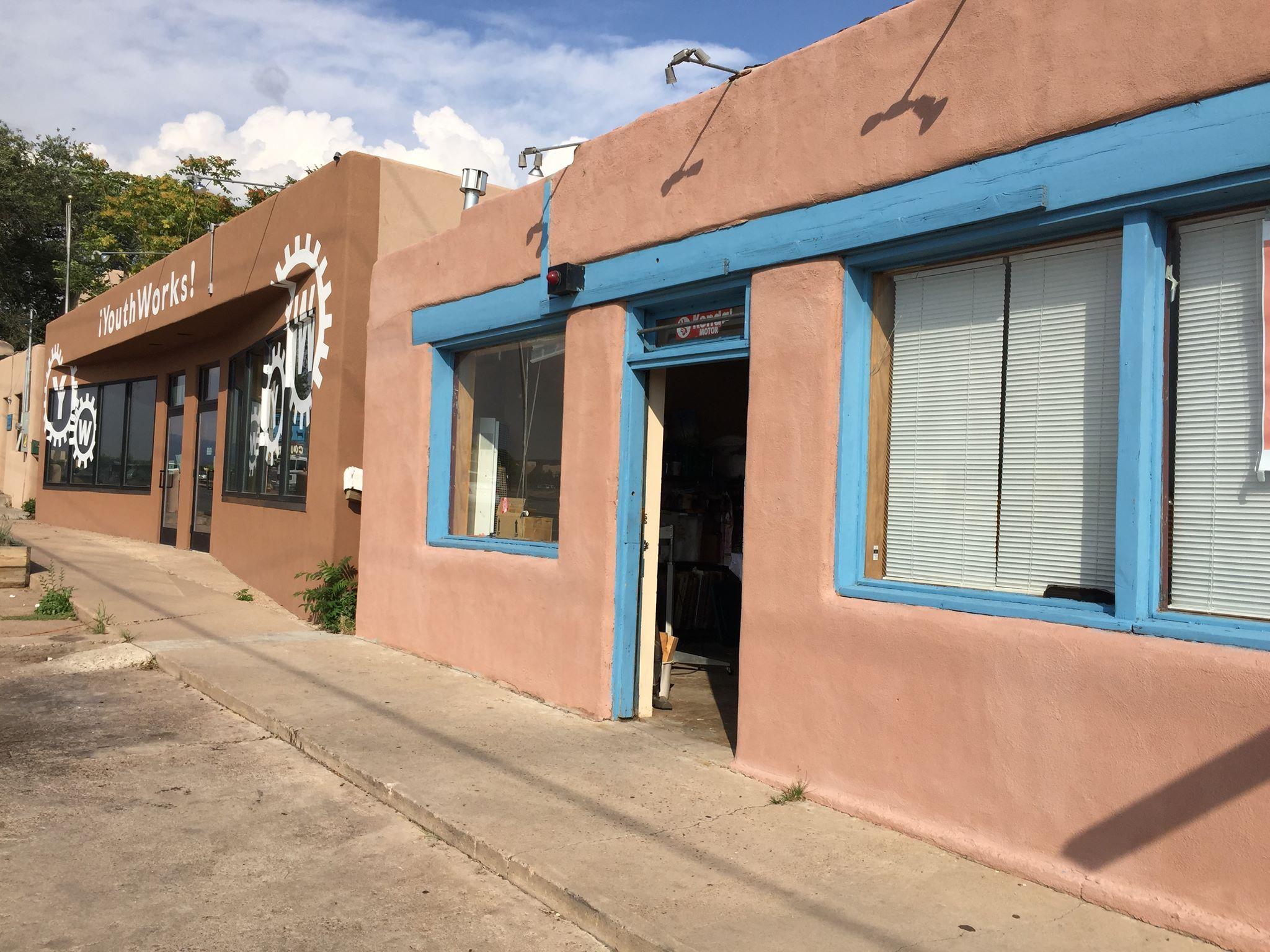The new home of Santa Fe Community Screenprinting.
