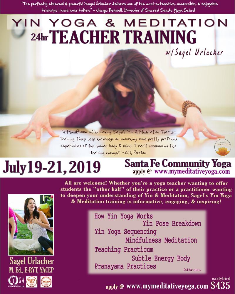 Yin Yoga Teacher training santa fe