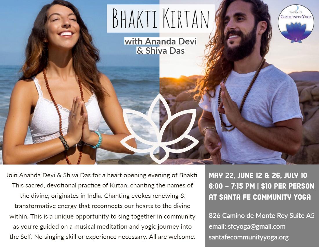 bhakti kirtan santa fe yoga