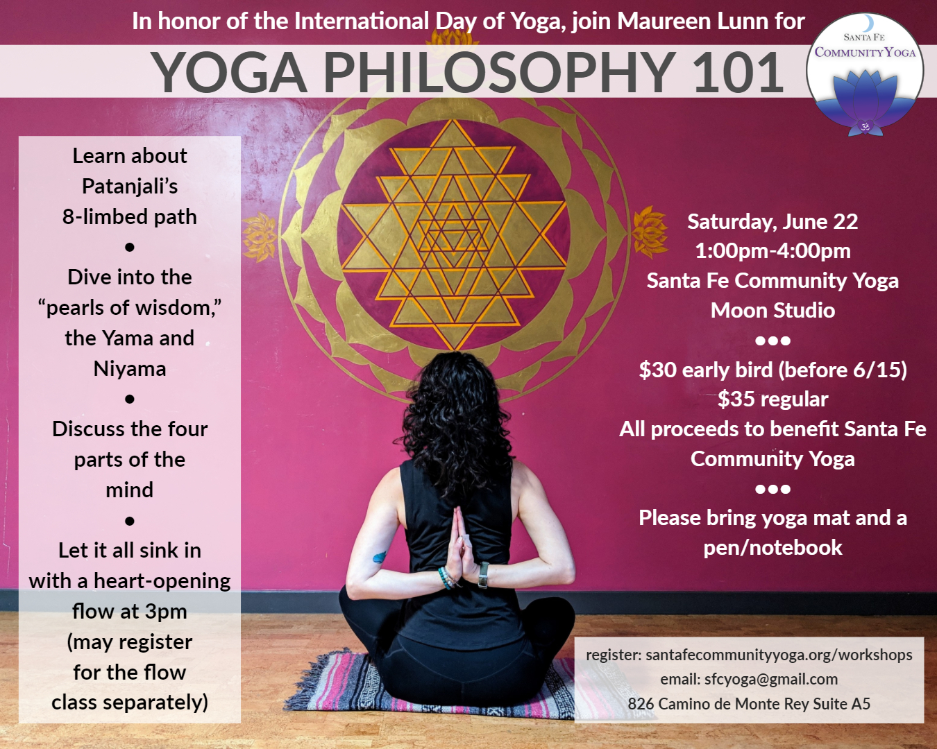 yoga philosophy workshop