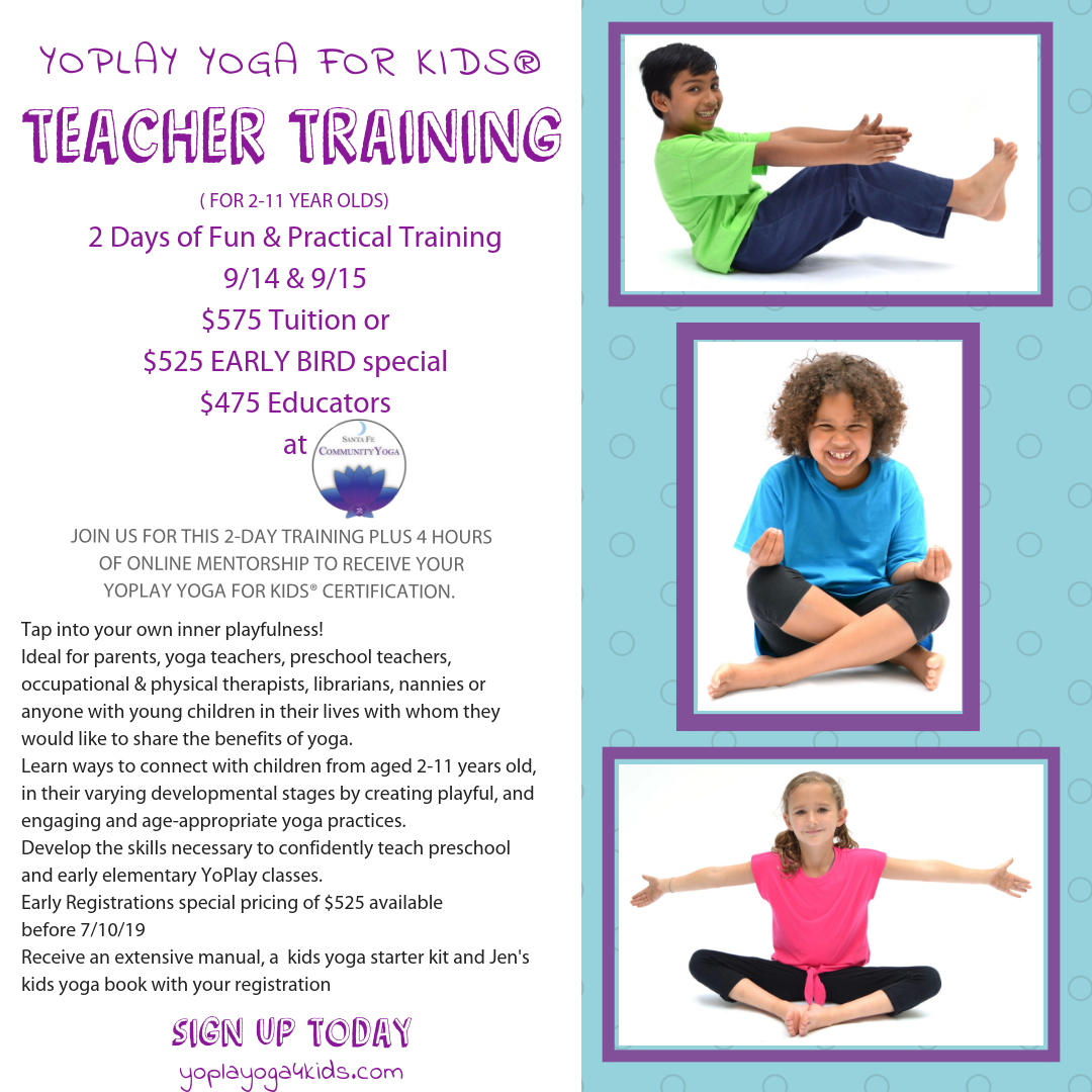 yoga teacher training kids santa fe