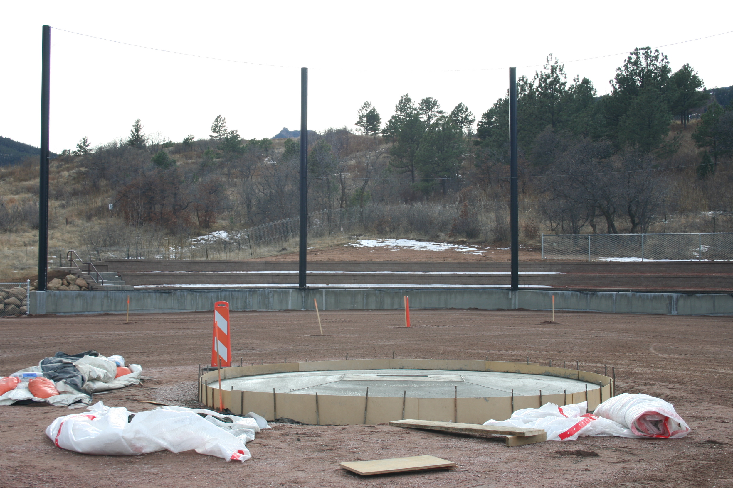 Lots of progress is being made on the new baseball field.