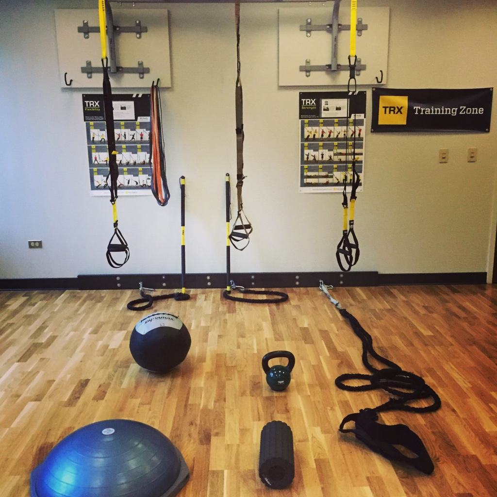 Colorado Personal Fitness Gym, TRX, TRX Rip trainer, BOSU, Kettlebell, battle rope, medicine ball, Hyperice