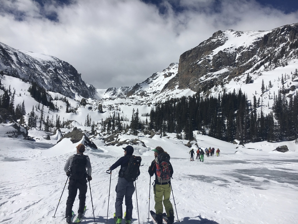 going over our objectives in Rocky Mountain National Park