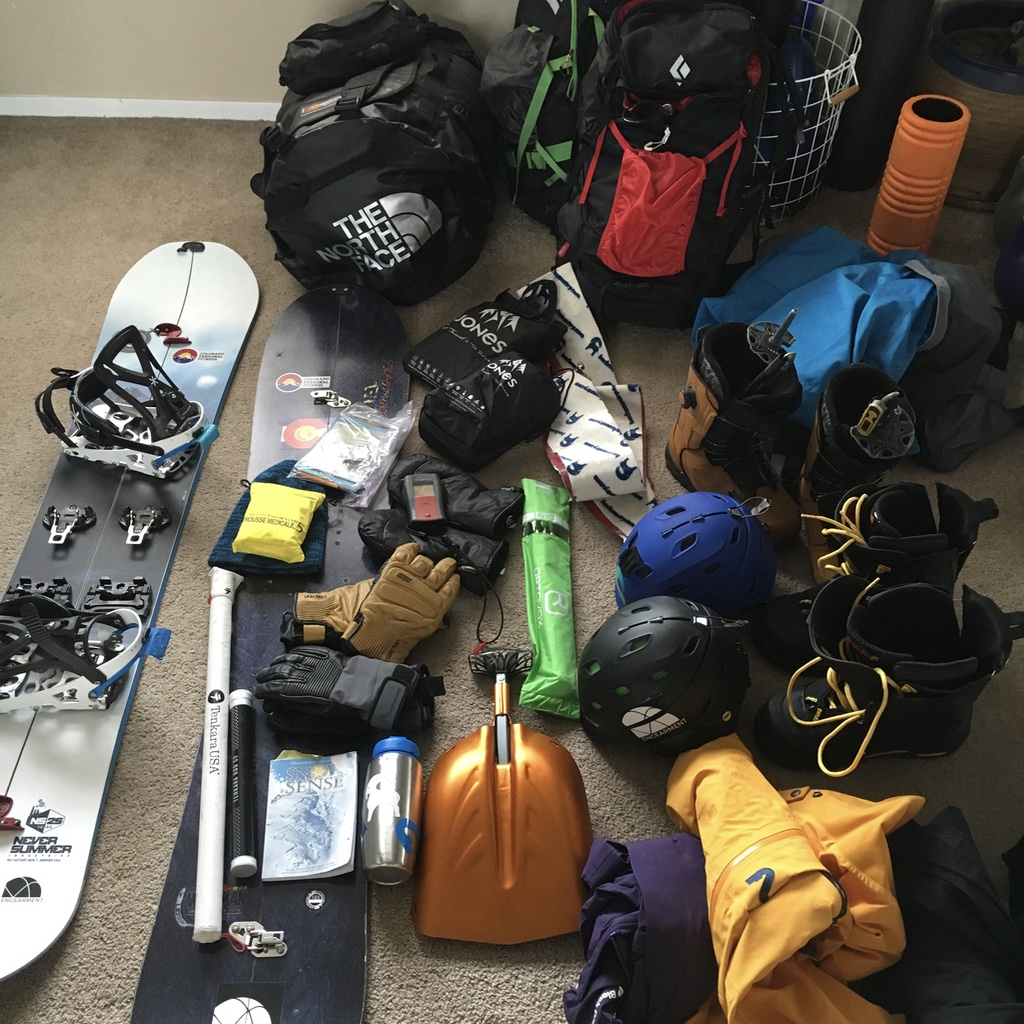 Gearing up for a tour. I constantly go through my kit and see what I use and what I can do to reduce weight. Just like with hiking, the more weight you carry, the more work you will be doing.