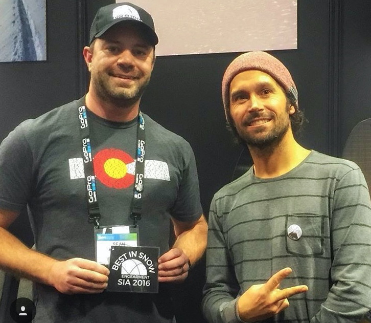Hanging with Jeremey Jones during SIA 2016, living legend and a very nice guy. He gave a speech on what he does to prepare for splitboarding. We recorded the whole thing and have it up on  Engearment.com