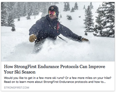 HOW STRONGFIRST'S ENDURANCE PROTOCOLS CAN IMPROVE YOUR SKI SEASON