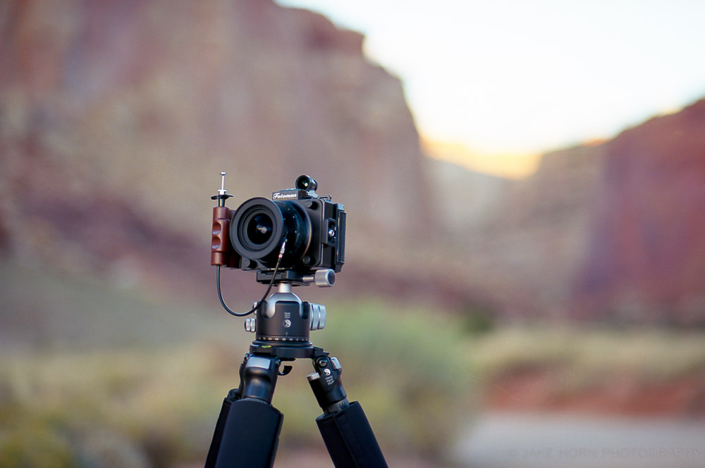 The Fotoman 69HPS with 47mm f5.6 Super-Angulon XL and Voigtlander Viewfinder