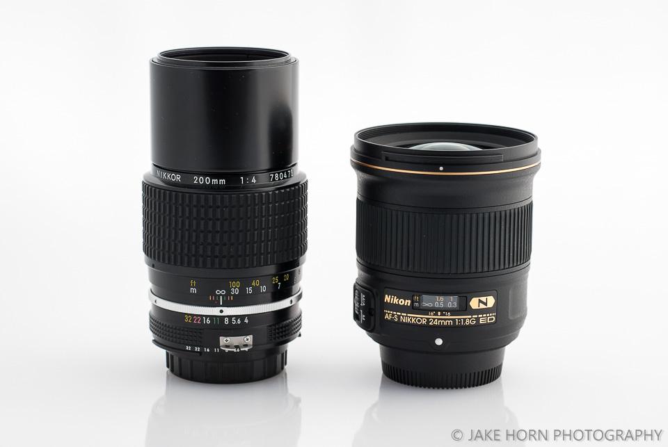 Size Comparison to  Nikon 24mm 1.4G