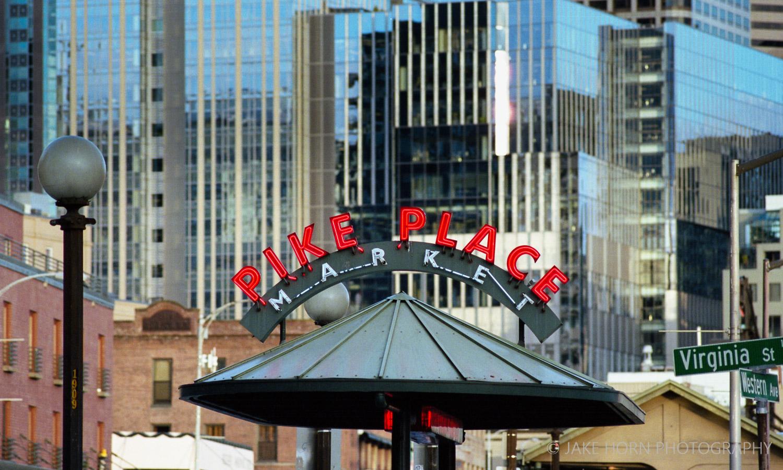Pike Place Market - Nikon F4 |  200mm  | Portra 400 | F8 | ei400