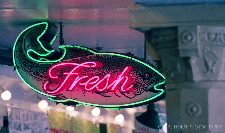 Pike Place Market - Nikon F4 |  200mm  | Portra 400 | F4 | ei400