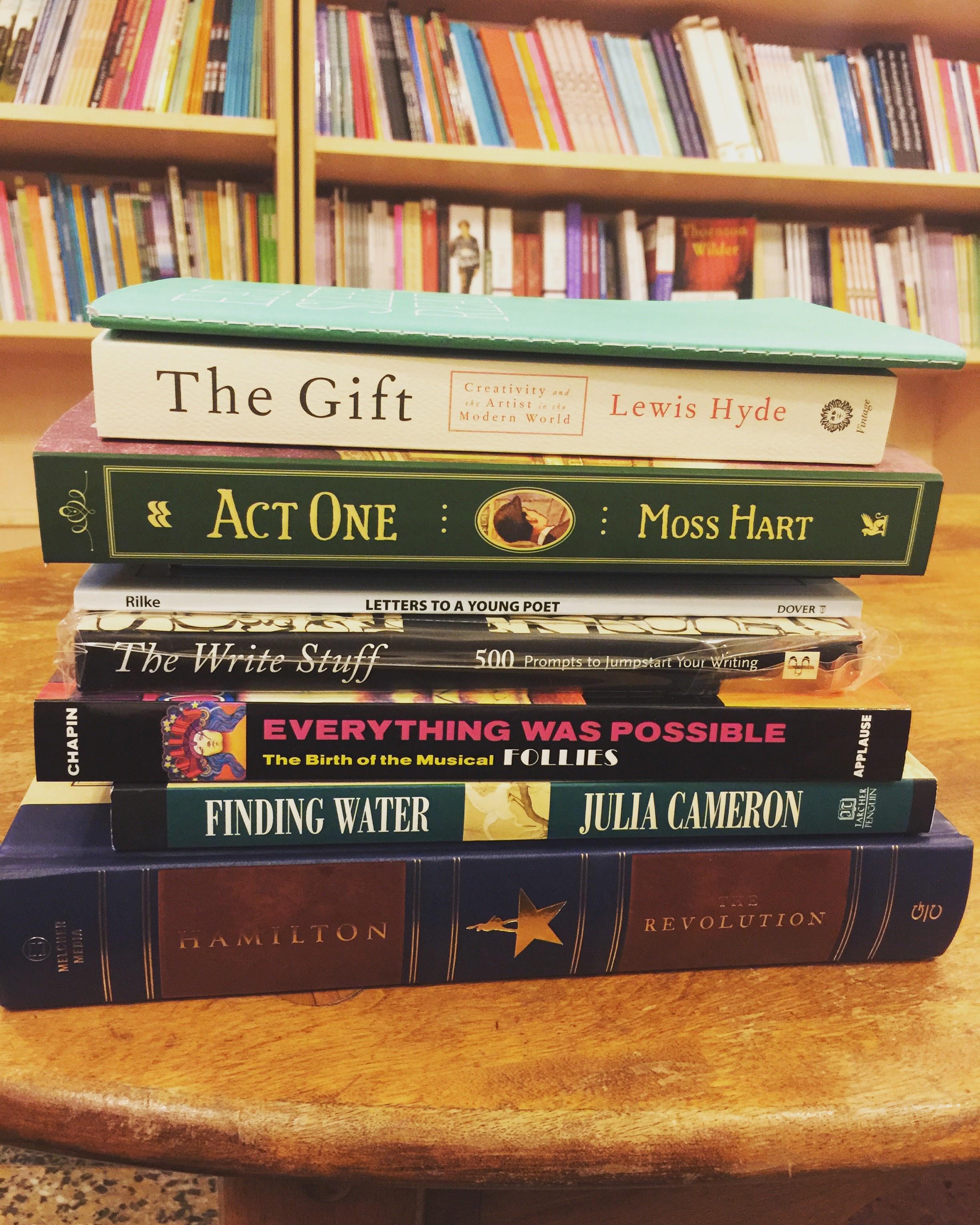 All my Drama Bookshop treasures.