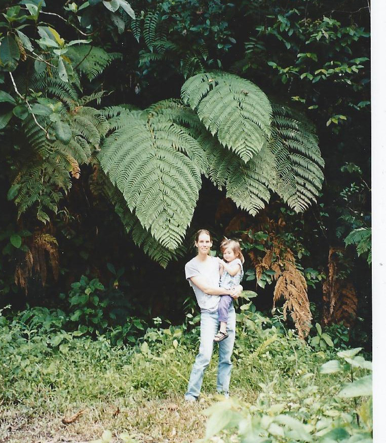 K and I with a tree fern.jpg