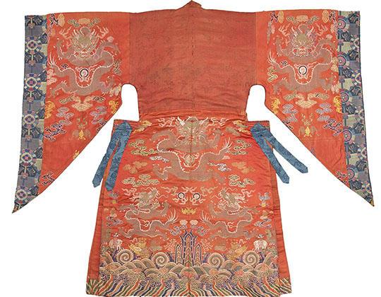 Tibet,  Dancer's Robe,  18th century,Silk brocade