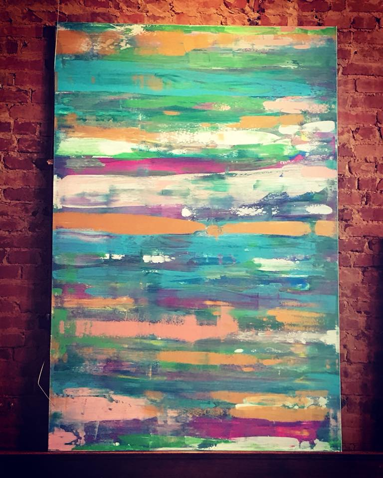 Escape, 48 x 72 Acrylic on Canvas