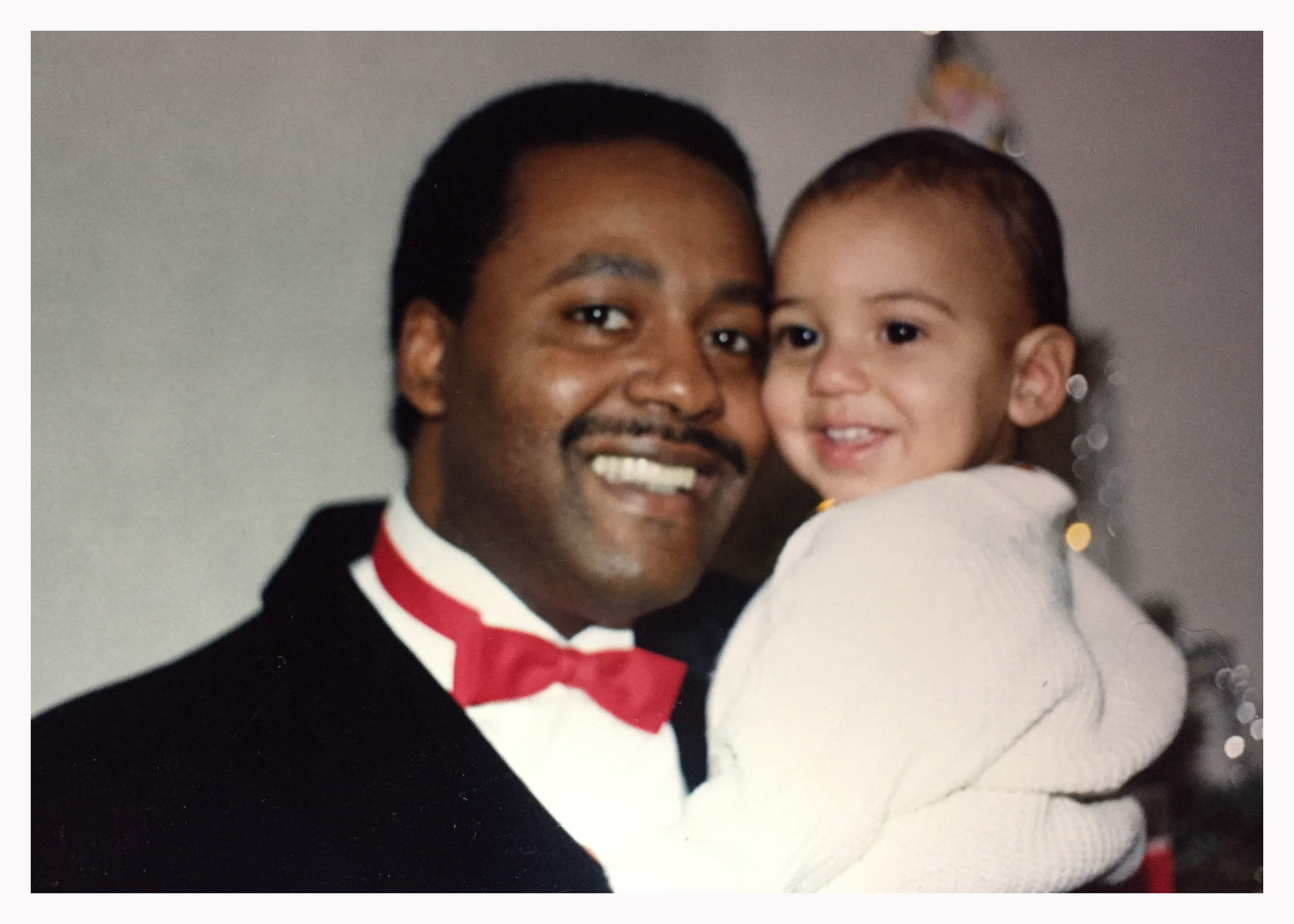 Isaiah and his father c 1985.