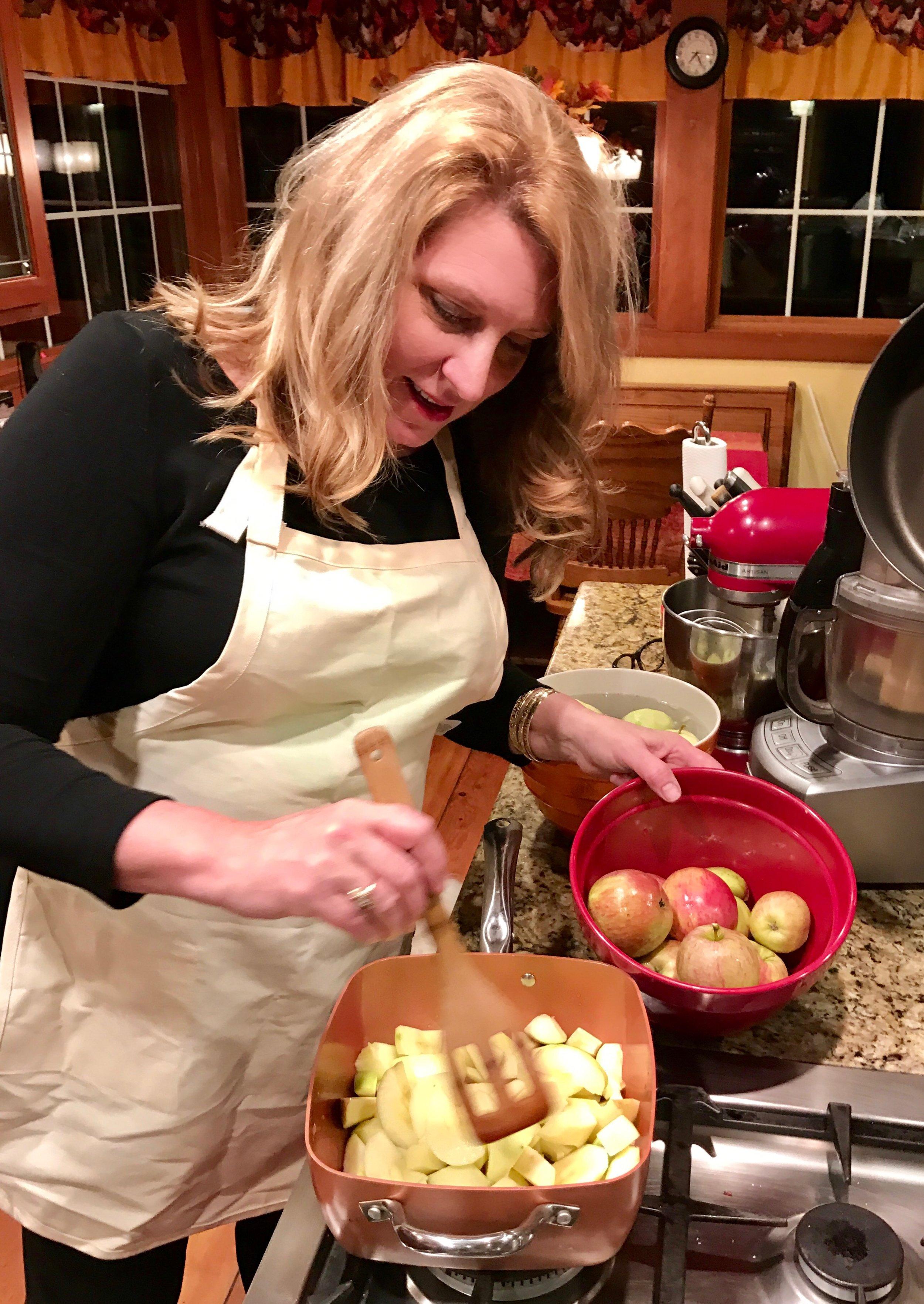 I use my own apples, Mmmm Mmmm good!