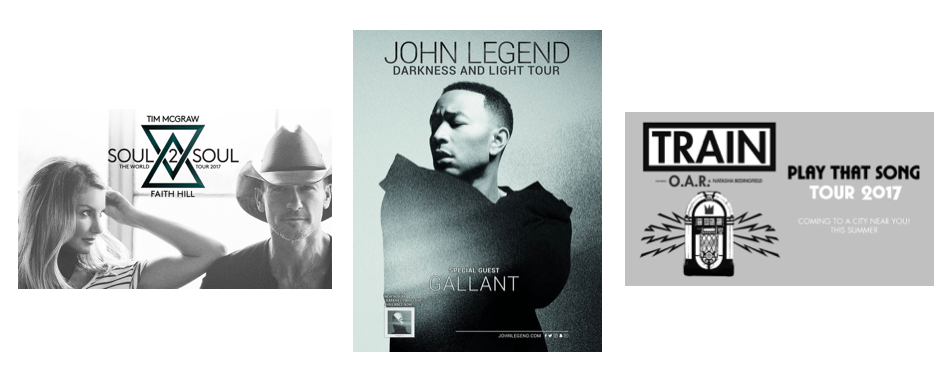 Three Great Concert Tours!