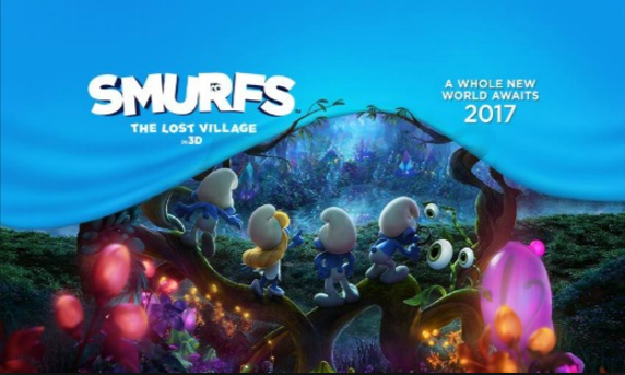 Smurfs, The Lost Village.  Opened April 7th!