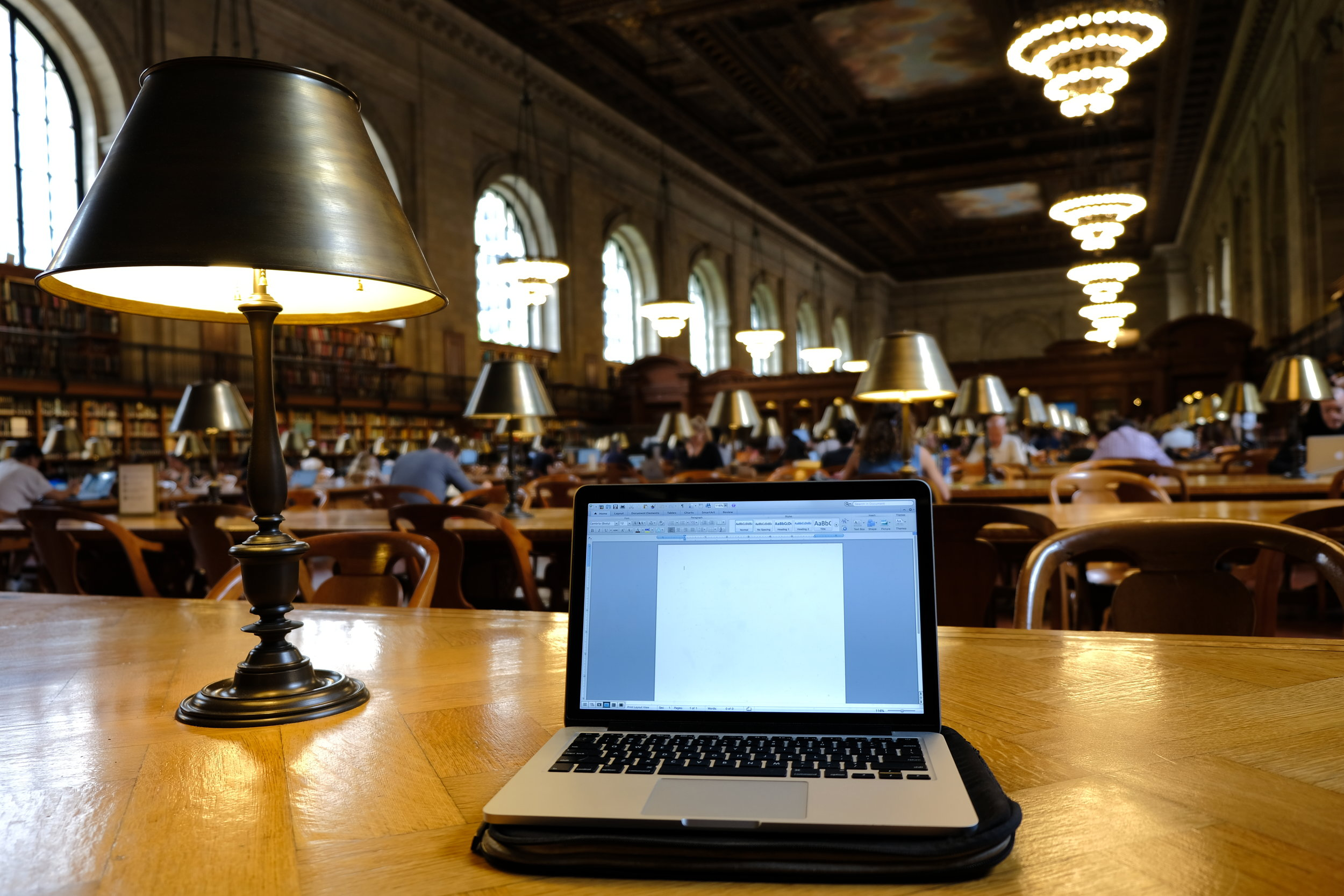 Working at the New York Public Library