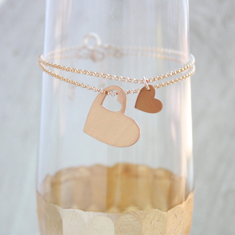 Mother Daughter Hearts Bracelets