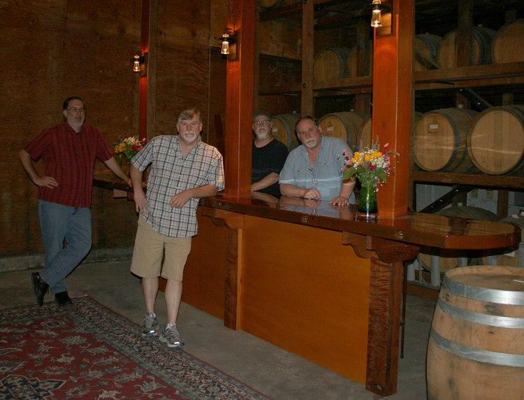 The bar at Prager Winery