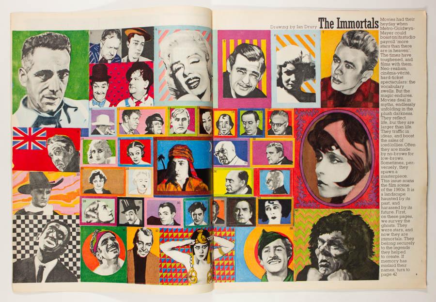 Ian Dury illustration for The Sunday Times Magazine